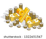 percentage rate earnings income ... | Shutterstock .eps vector #1322651567