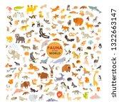 animal cartoon vector... | Shutterstock .eps vector #1322663147