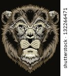 heraldic lion crest | Shutterstock .eps vector #132266471