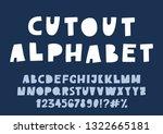 cute cutout alphabet. high... | Shutterstock .eps vector #1322665181