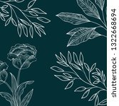 pattern plants and herbs... | Shutterstock .eps vector #1322668694