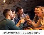 group of young friends having... | Shutterstock . vector #1322674847