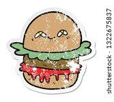 distressed sticker of a cartoon ...   Shutterstock .eps vector #1322675837