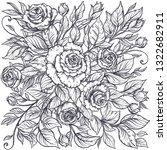 elegant hand drawn graphic... | Shutterstock . vector #1322682911