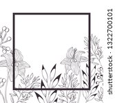 flowers and leafs with frame... | Shutterstock .eps vector #1322700101