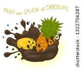 illustration on theme falling... | Shutterstock . vector #1322706287