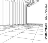architecture abstract  3d...   Shutterstock .eps vector #1322707361