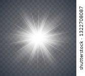 glowing light effect on... | Shutterstock .eps vector #1322708087