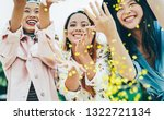 happy asian friends having fun... | Shutterstock . vector #1322721134