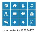 website icons on blue... | Shutterstock .eps vector #132274475