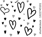 hand drawn doodle hearts | Shutterstock .eps vector #1322745101