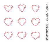 heart icon set | Shutterstock .eps vector #1322746514