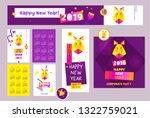happy new year 2019. earth boar ...   Shutterstock . vector #1322759021