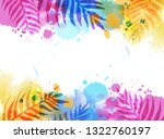 abstract watercolor imitation... | Shutterstock .eps vector #1322760197