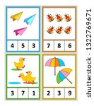 spring season themed counting 1 ... | Shutterstock .eps vector #1322769671