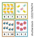 spring season themed counting 1 ... | Shutterstock .eps vector #1322769674