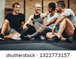 diverse group of fit people in... | Shutterstock . vector #1322773157
