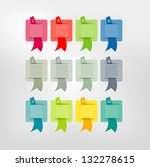 colorstickers with ribbon.... | Shutterstock .eps vector #132278615