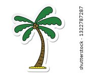 sticker of a quirky hand drawn... | Shutterstock .eps vector #1322787287