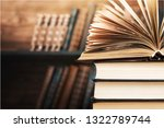 book open in the library | Shutterstock . vector #1322789744