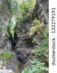 Gorge at Watkins Glen Park - stock photo