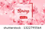 spring sale background with... | Shutterstock .eps vector #1322795564