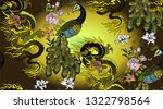 pattern of peacock and asian... | Shutterstock .eps vector #1322798564