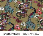 pattern of peacock and asian... | Shutterstock .eps vector #1322798567