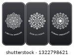 vector set of luxury packaging... | Shutterstock .eps vector #1322798621