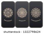 vector set of luxury packaging... | Shutterstock .eps vector #1322798624