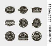 set of burger logos. retro...   Shutterstock .eps vector #1322799311