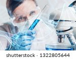 young female scientist standing ... | Shutterstock . vector #1322805644