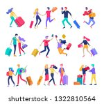 different people travel on... | Shutterstock .eps vector #1322810564