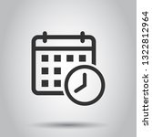calendar agenda icon in flat... | Shutterstock .eps vector #1322812964