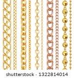 set of realistic vector golden...   Shutterstock .eps vector #1322814014