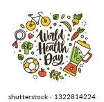 world health day lettering... | Shutterstock .eps vector #1322814224