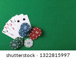 chips and cards on table in... | Shutterstock . vector #1322815997