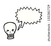 shrieking skull with speech...   Shutterstock . vector #132281729