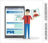 man edit profile in social... | Shutterstock .eps vector #1322820044