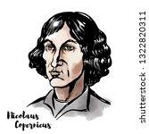 Nicolaus Copernicus Watercolor...