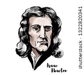 isaac newton watercolor...   Shutterstock . vector #1322820341