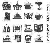 restaurant icon set suitable... | Shutterstock .eps vector #1322829911