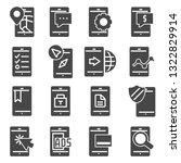 minimal set of mobile phone... | Shutterstock .eps vector #1322829914