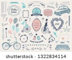 vector hand drawn doodle love... | Shutterstock .eps vector #1322834114