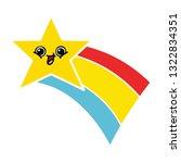 flat color retro cartoon of a... | Shutterstock .eps vector #1322834351