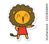 sticker of a laughing lion... | Shutterstock .eps vector #1322836844