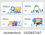 illustration of data analysis ... | Shutterstock .eps vector #1322837267