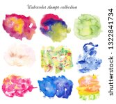 watercolor stains set | Shutterstock . vector #1322841734