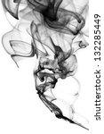 Abstract Black Smoke Swirls...