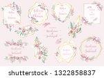 geometry pink gold wedding... | Shutterstock .eps vector #1322858837